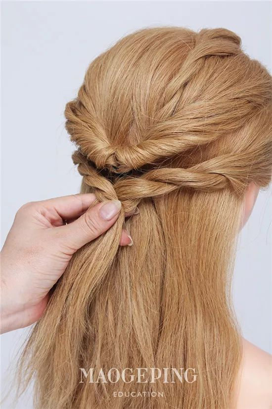 蓬松自然的空气感半扎发,你喜欢吗?